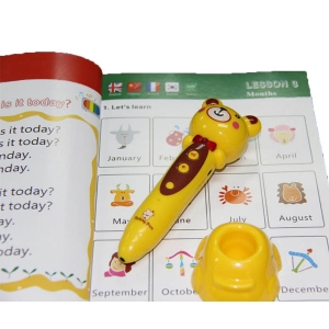 Electronic learning machine of talking pen for children with 5 languages