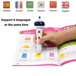 Kids gift educational 6 languages  DC011 reading pen with pens Chinese supplier
