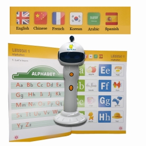 Spanish French Korean Engilsh French Arabic including 6 languages point reading pen for children