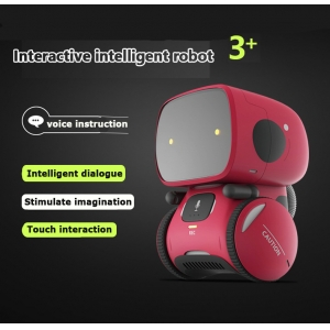 Touch sensitive interaction Intelligent voice interactive robot toy with wheel